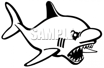 Clipart Net Black And White Clipart Picture Of Mean Looking Shark