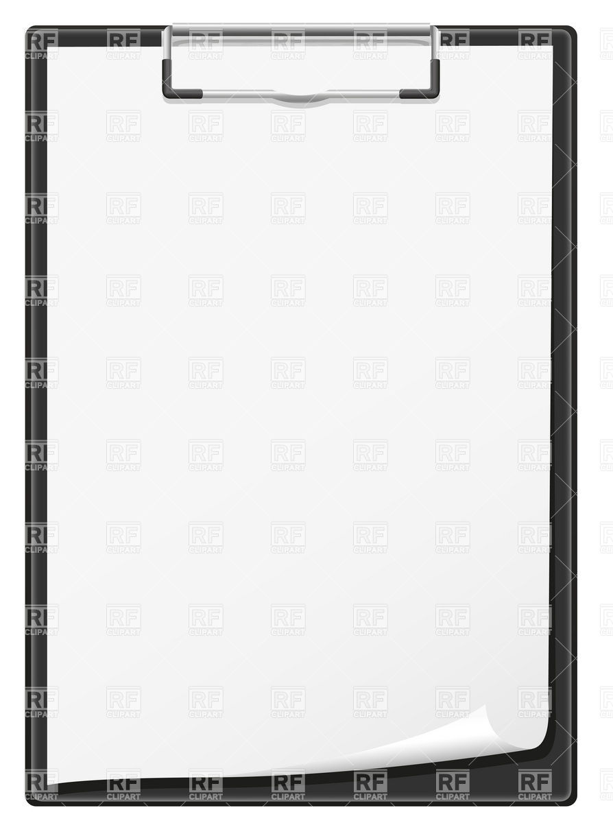 Clipboard With Blank Paper Sheet Download Royalty Free Vector Clipart