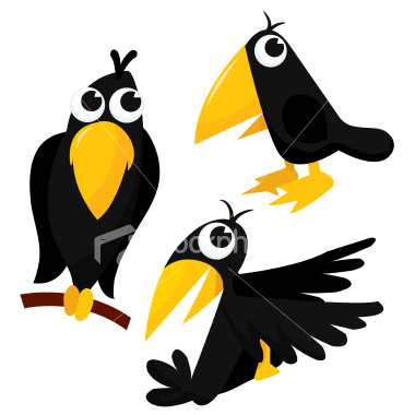 Crow Cartoon Clipart Be Upset At The Crows