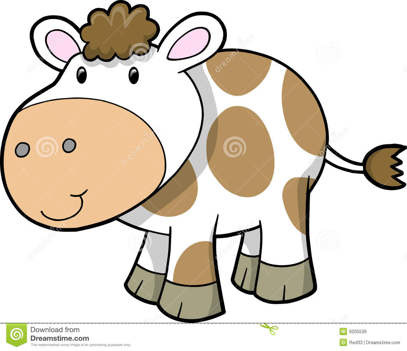 Cute Baby Cow Clipart Cute Farm Cow Vector 9205539 Jpg