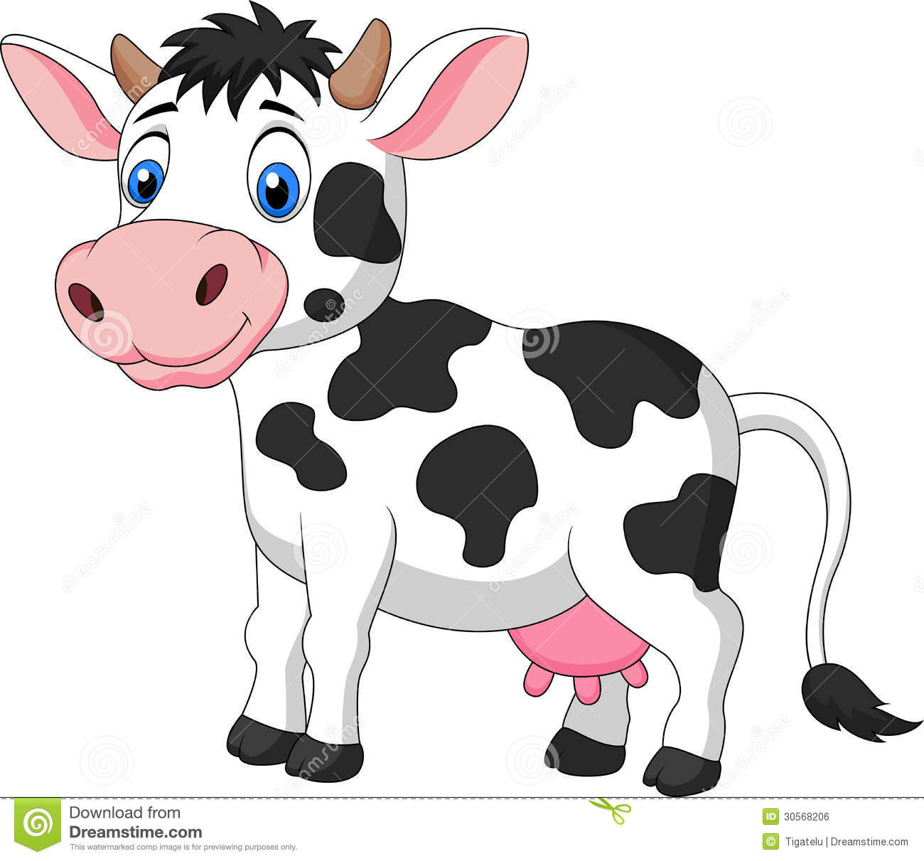 Cute Cow Cartoon Royalty Free Stock Image   Image  30568206