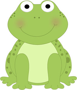Cute Frog Clip Art Image   Small Cute Frog With Spots And A Smiling
