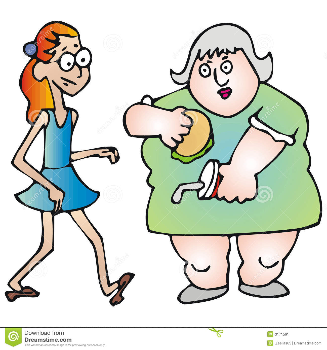 Fat And Thin Clipart Thin And Fat Stock Image