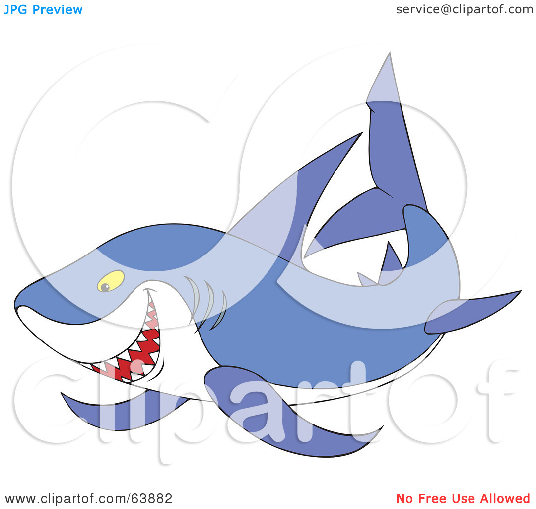 Free  Rf  Clipart Illustration Of A Mean Purple Shark By Alex Bannykh
