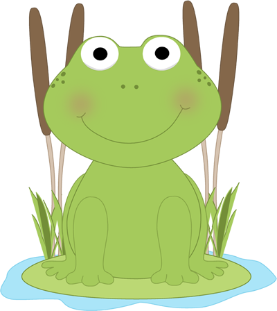 Frog In A Pond Clip Art   Frog In A Pond Image