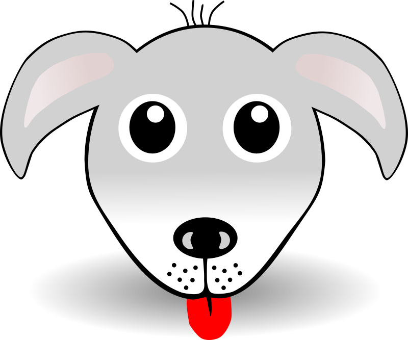 Funny Dog Face Grey Cartoon By Palomaironique   Funny Dog Face Grey