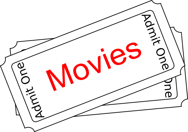 Movies Ticket Button Clip Art