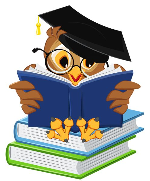 Owl With School Books Png Clipart Picture   Clipart   Pinterest