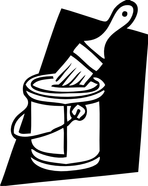 Paint Can And Brush Clip Art At Clker Com   Vector Clip Art Online