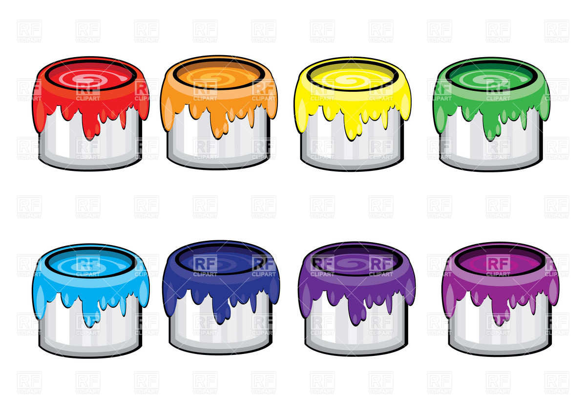 Paint Cans Outlines Clipart - Clipart Kid
