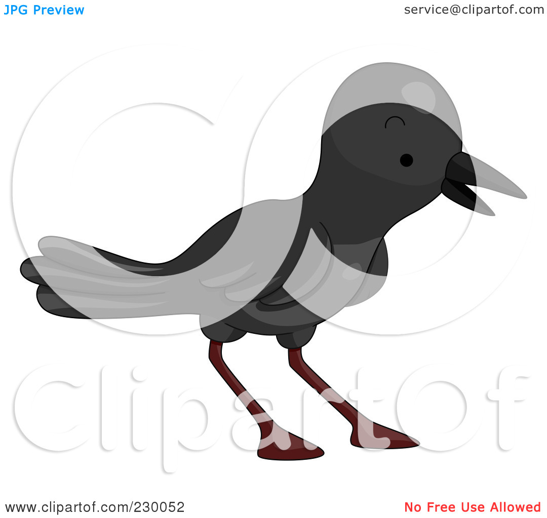 Royalty Free  Rf  Clipart Illustration Of A Cute Crow By Bnp Design
