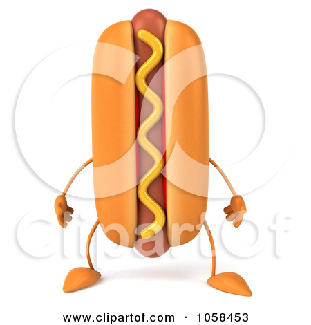 Silly Hot Dog Clipart
