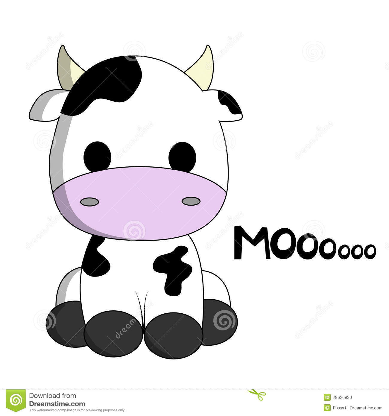 Stock Photo  Cute Cow Cartoon  Image  28626930