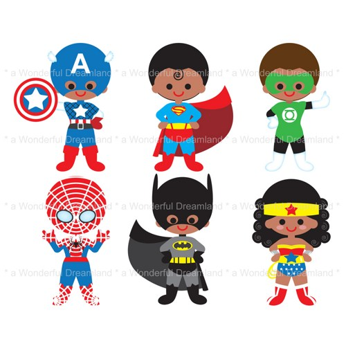 Superhero Clipart - Clipart Kid Superhero Flying Vector