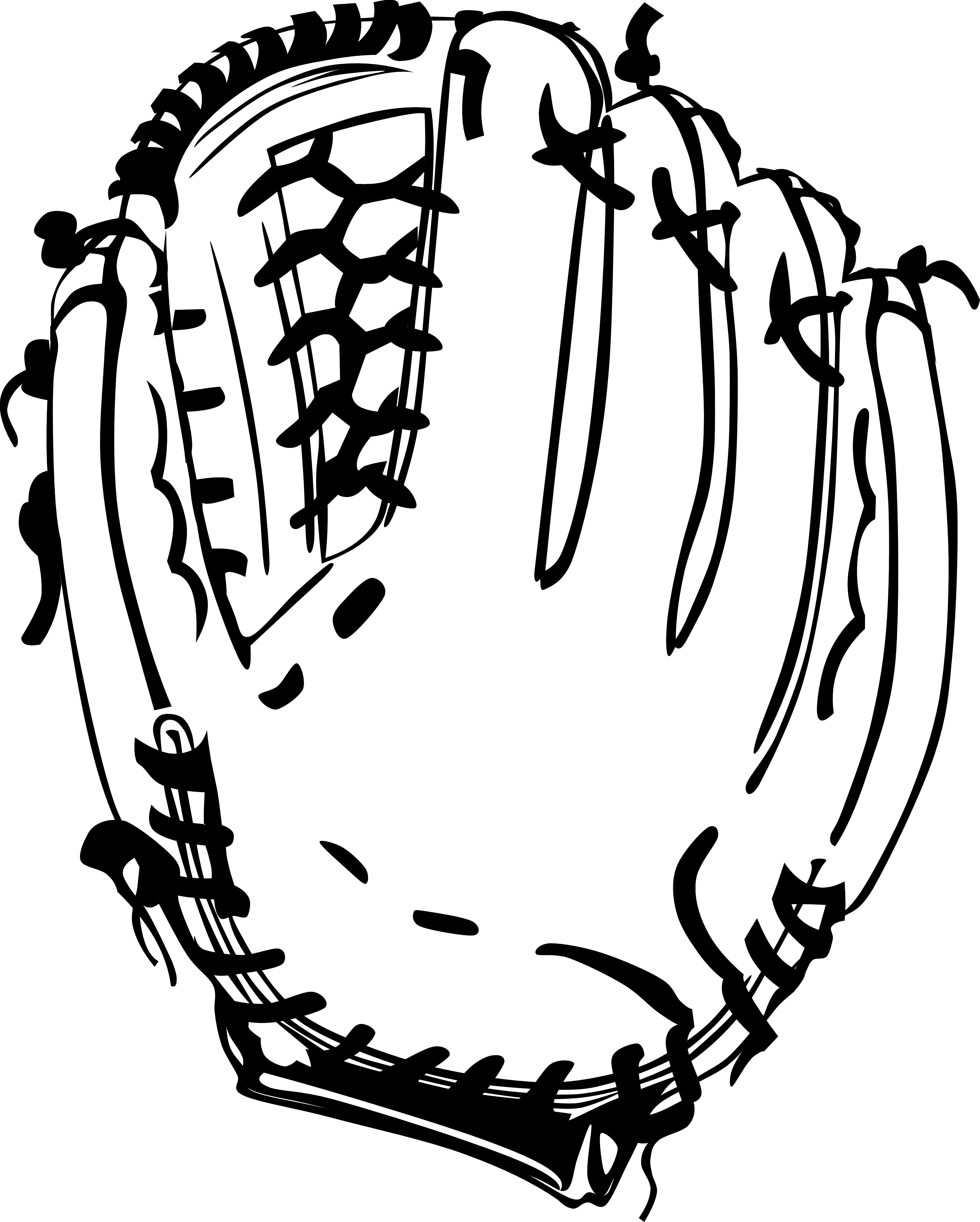 Black And White Baseball Player Clipart