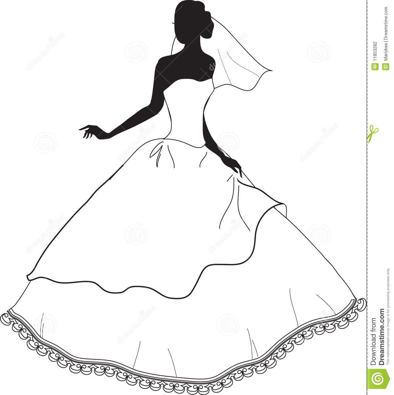 Bridal Dress Si... Free Clipart Bride Silhouette