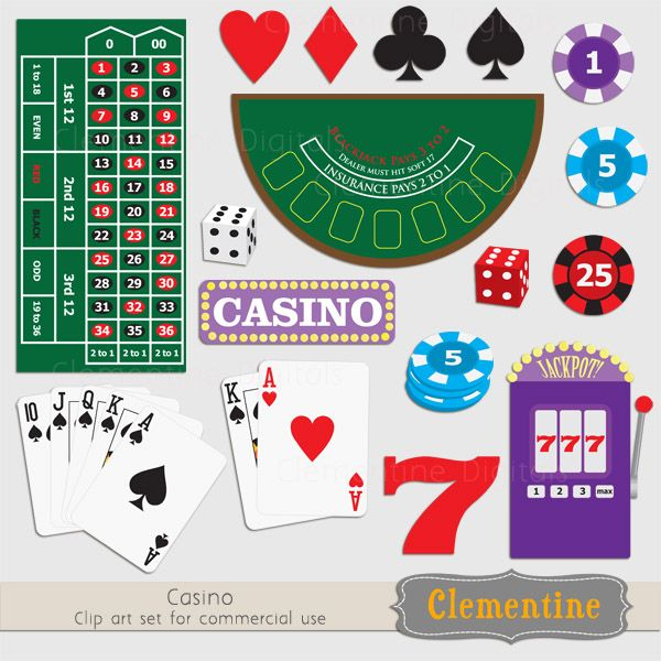 Casino Clip Art For Invitations   Decor    Casino Night   Pinterest