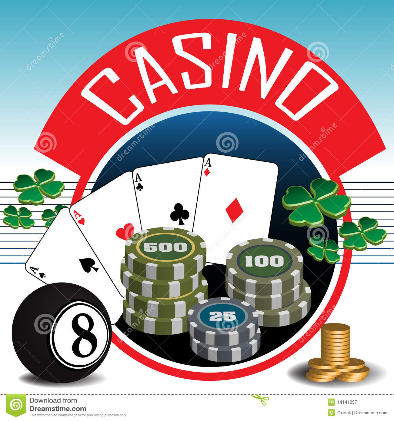 Casino Theme Royalty Free Stock Photography   Image  14141257
