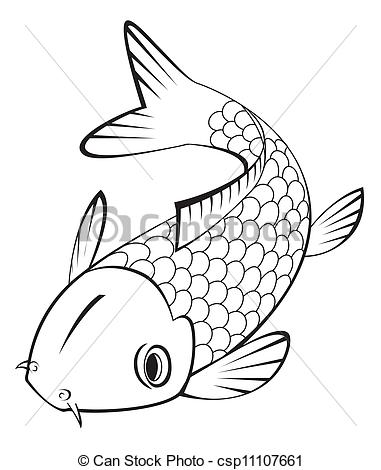 Clip Art Vector Of Koi Fish Csp11107661   Search Clipart Illustration