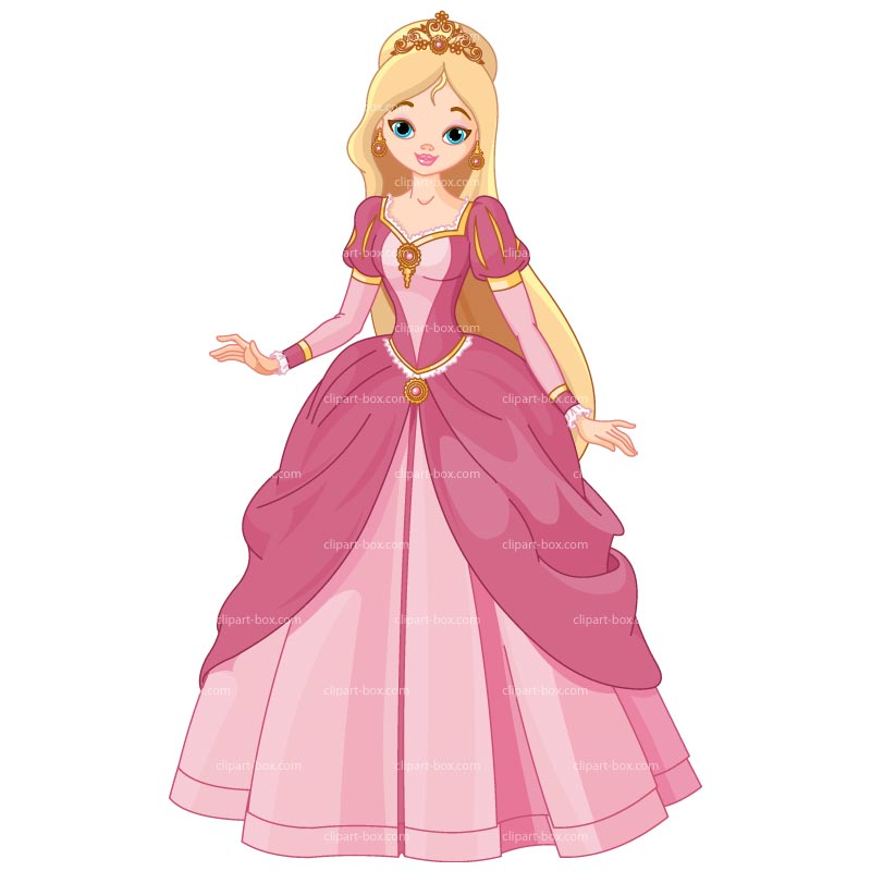 Clipart Cute Princess   Royalty Free Vector Design