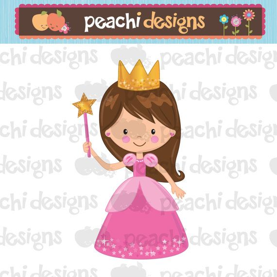 Cute Little Princess Clipart Printable By Peachidesigns On Etsy  7 00