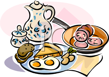 Sunday Breakfast Buffet Clip Art