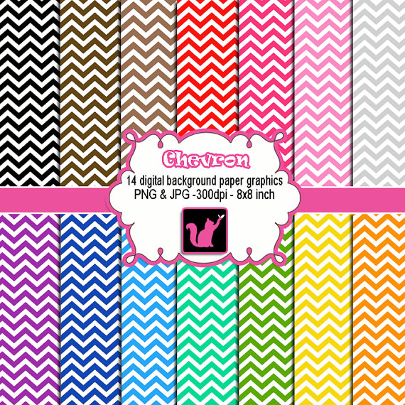 Instant Download Chevron Zig Zag Clipart Digital Background Paper