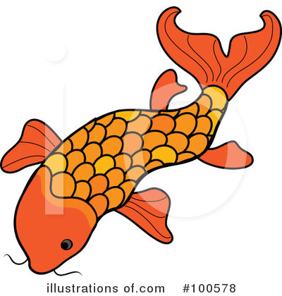Koi Fish Clipart  100578 By Pams Clipart   Royalty Free  Rf  Stock
