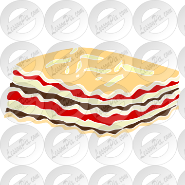Lasagna Stencil For Classroom   Therapy Use   Great Lasagna Clipart