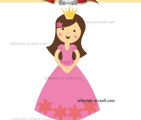 Little Princess Clipart Single Aifactory Graphics Illustrations And