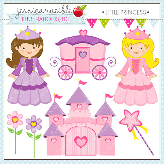 Little Princess Cute Digital Clipart For Commercial Or Personal Use