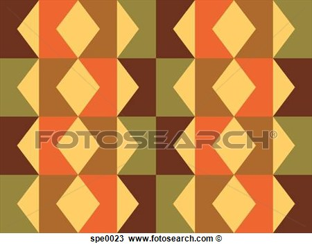 Pattern With Green And Brown Zig Zag Shapes Spe0023   Search Clipart