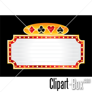 Related Casino Neon Banner Cliparts
