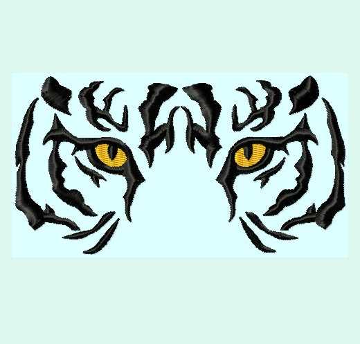 Tiger Eyes Clip Art Tiger Eyes Embroidery Designs