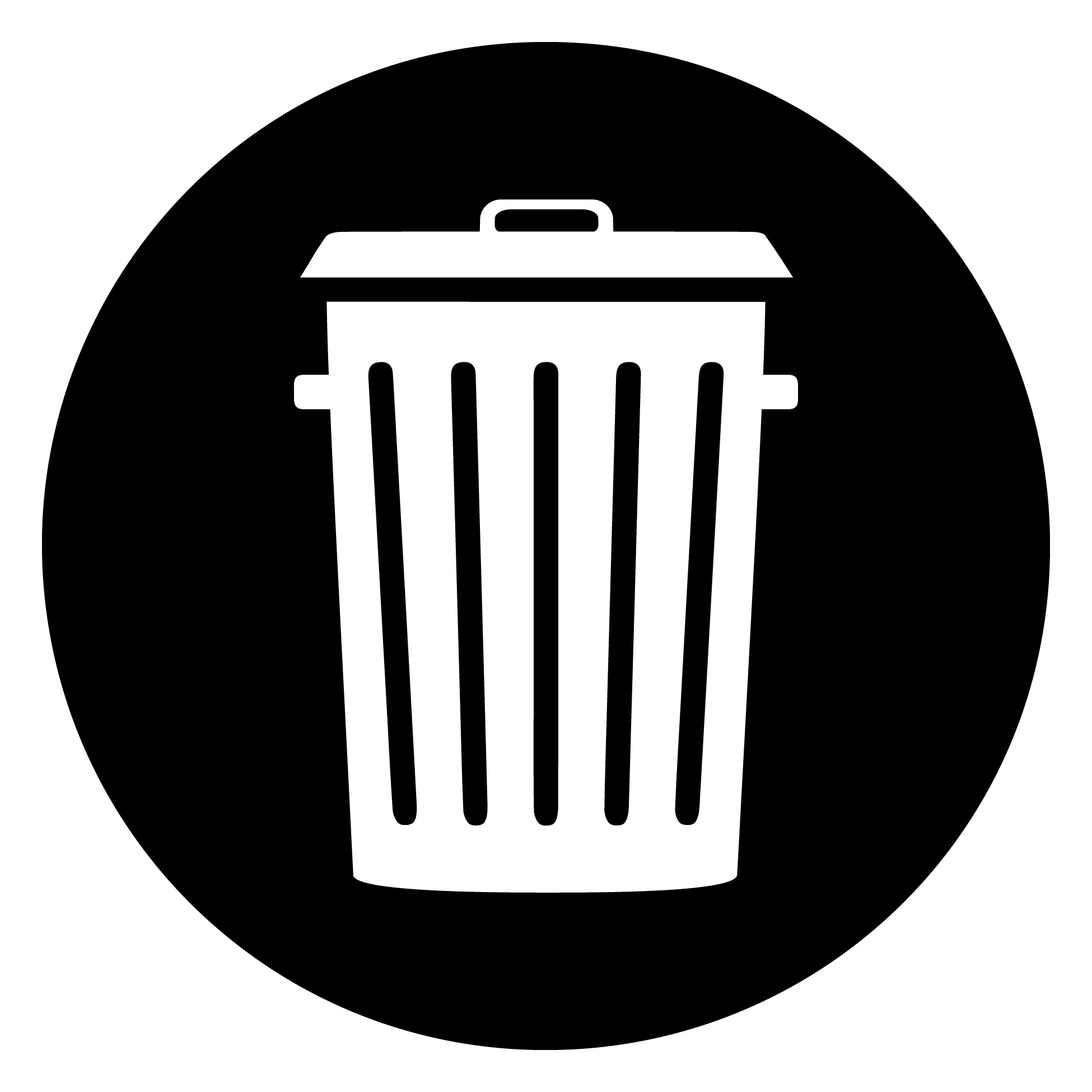 trash symbol clipart clipart suggest