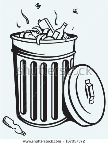 Trash Litter Box Clip Art Free Vector   4vector