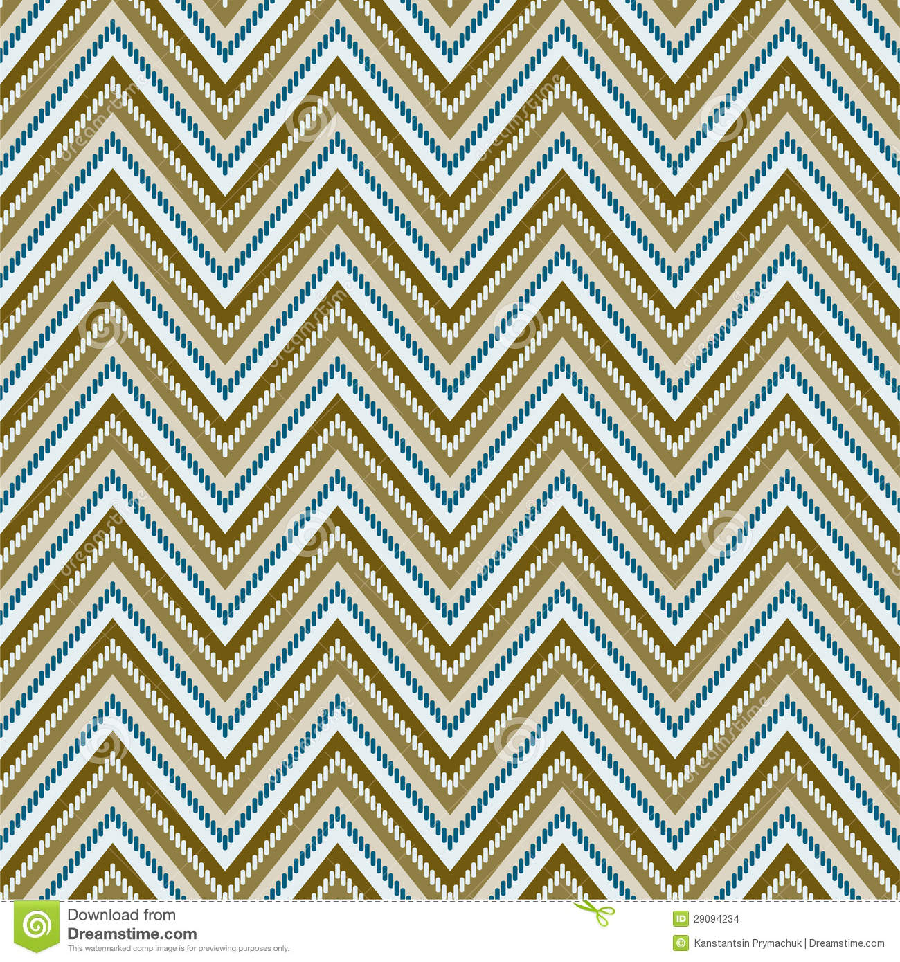Zig Zag Background  Seamless Pattern  Vector Illustration