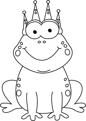 Black And White Frog Prince Clip Art   Black And White Frog Prince