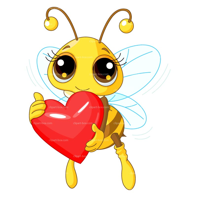 Clipart Love Bee Royalty Free Vector Design