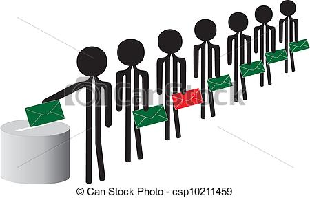 Clipart Vector Of Voting People   People Voting Csp10211459   Search