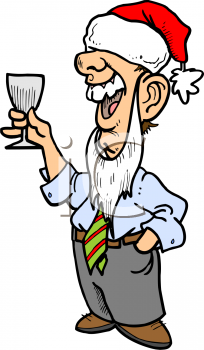 Drunk Businessman At An Office Christmas Party   Royalty Free Clip Art