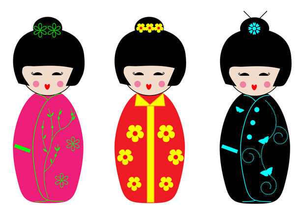 Kokeshi Dolls Clipart Free Stock Photo   Public Domain Pictures