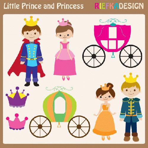 My Grafico  Little Prince And Princess Clipart