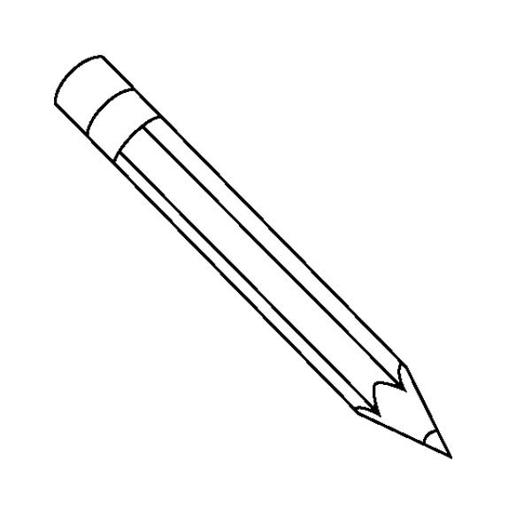 Pencil outline clipart clipart suggest for Pencil sharpener coloring page