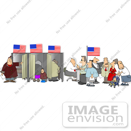 People In A Voters Office Voting Clipart    15082 By Djart   Royalty