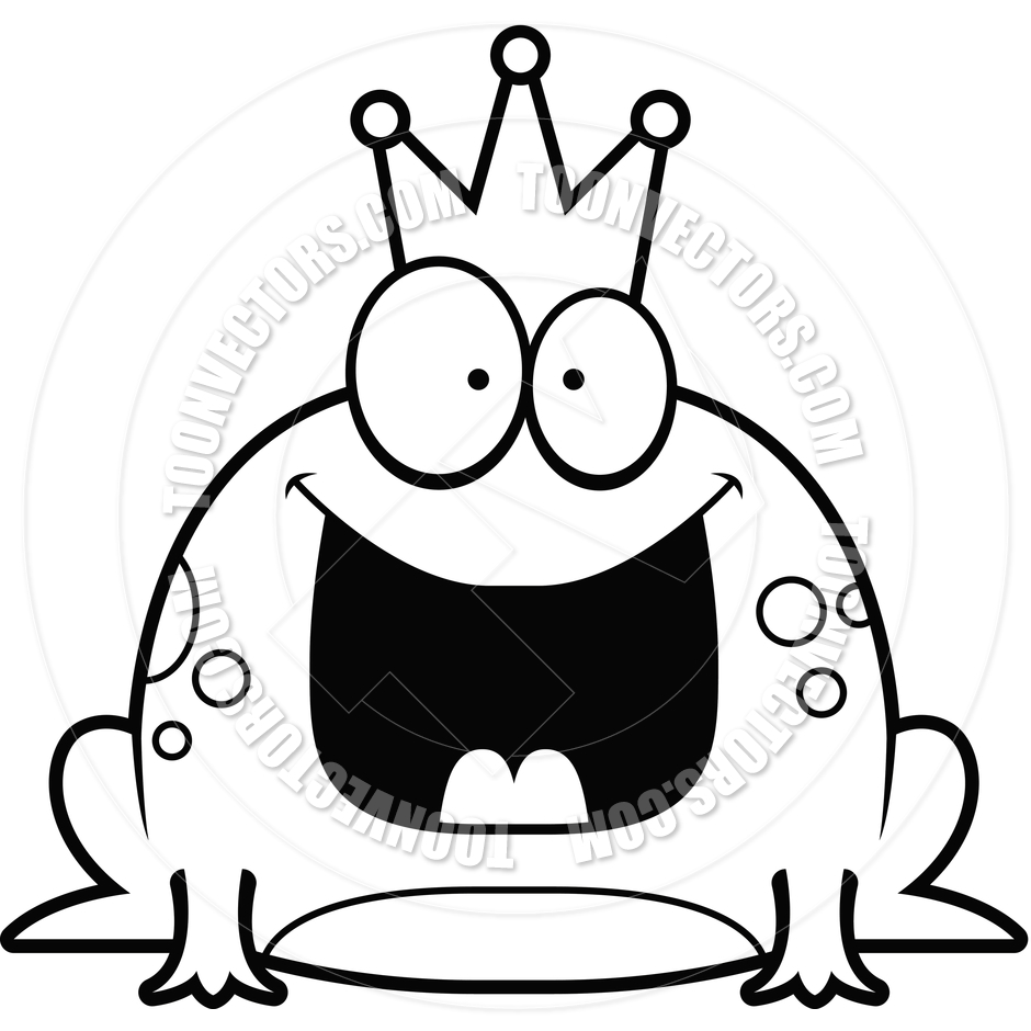 Prince Clipart Black And White Cartoon Little Frog Prince