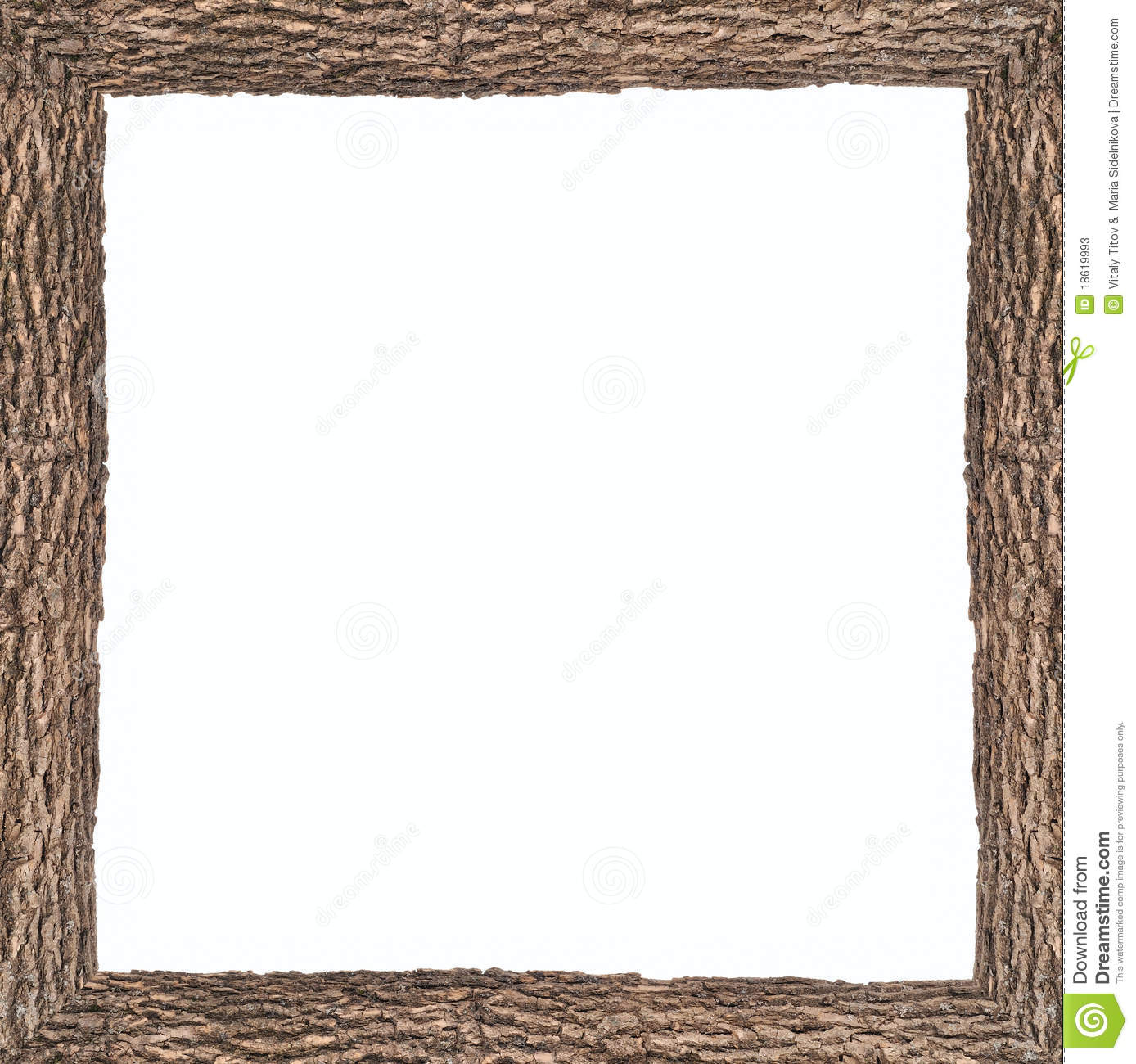 square frame clipart square frame with wooden bark