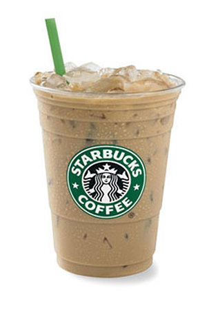 Starbucks Iced Latte   Celebrities Who Wear Use Or Own Starbucks