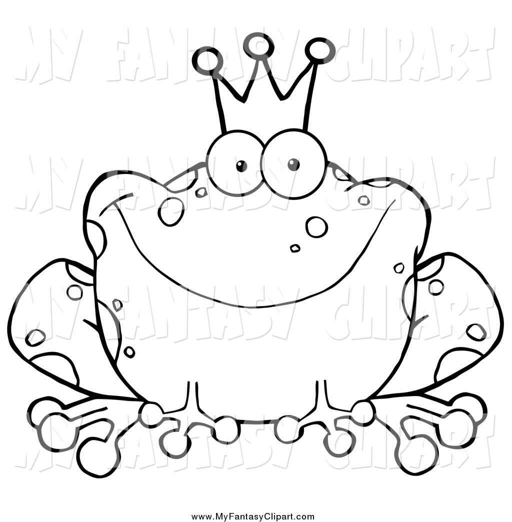 Toad Clipart Black And White Clip Art Of A Black And White Fairy Tale