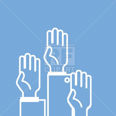 Voting Hands Silhouette People Download Royalty Free Vector Clip Art